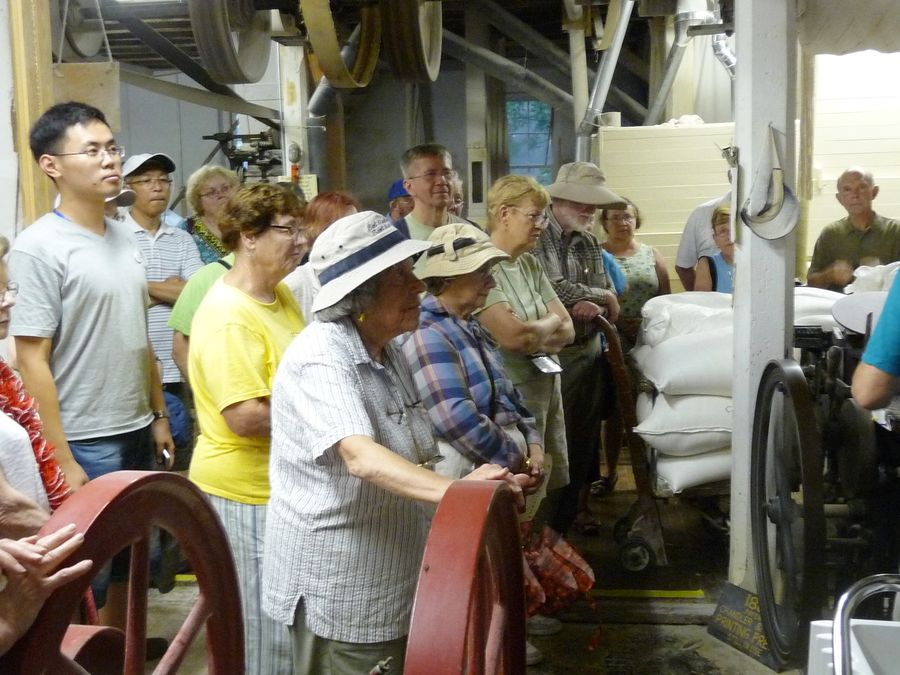 Our group learning about the milling operation