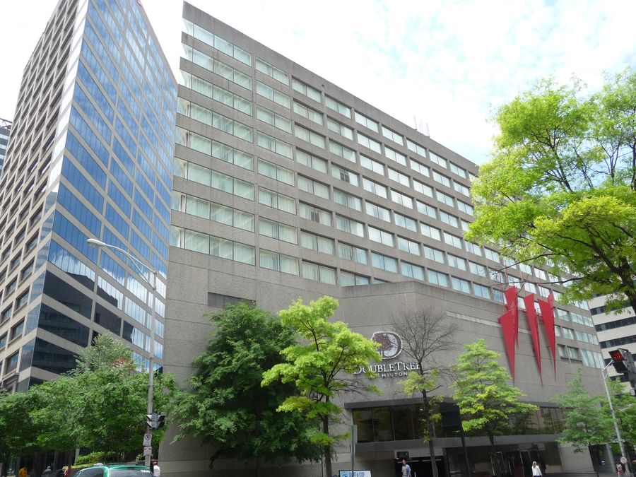 Our convention hotel: the DoubleTree by Hilton Downtown Nashville