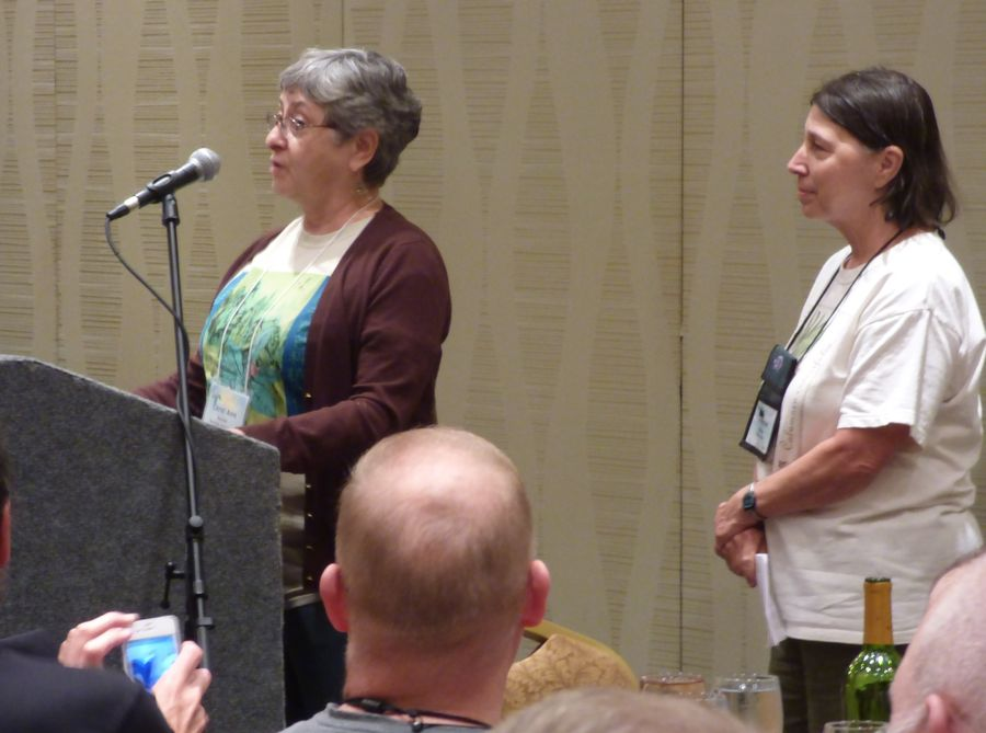 Tuesday evening convention welcome by Carol Ann Bonner and Jo Anne Martinez
