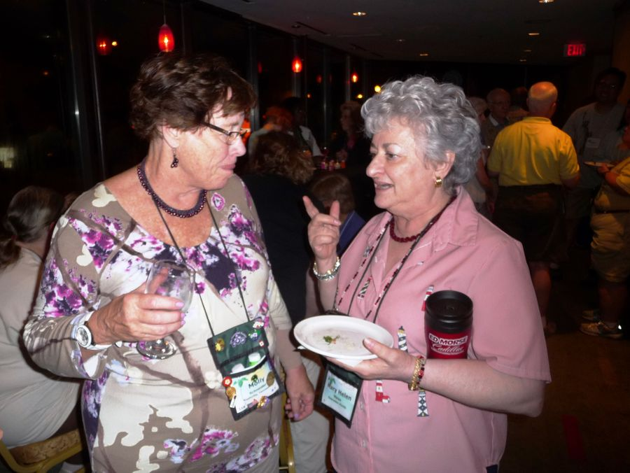Molly Schneider and Mary Helen Maran catching up since last convention