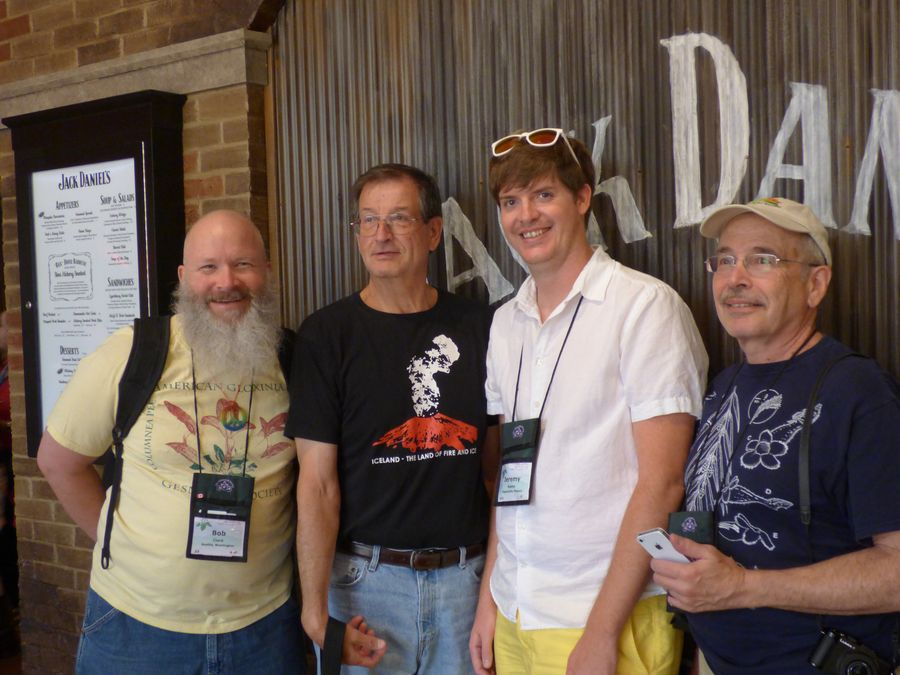Lunch-on-your-own group at Opryland: Bob Clark, Leonard Re, Jeremy Keene, Paul Susi