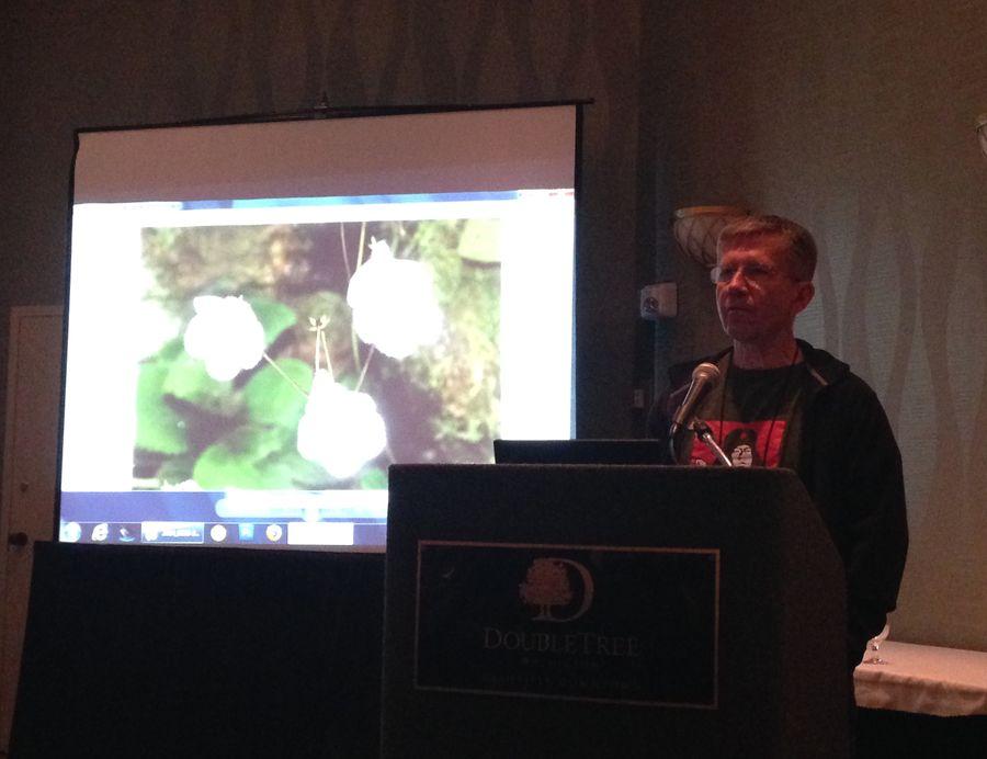 Stephen Maciejewski leading the conservation meeting and program
