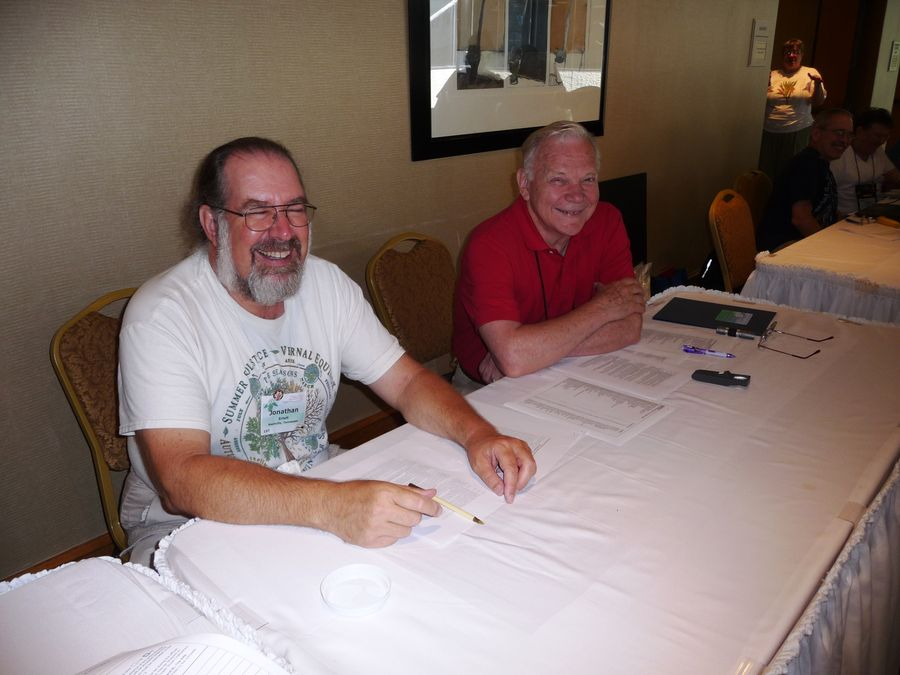 Classification Chair Michael Riley (right) assisted by Jonathan Ertelt