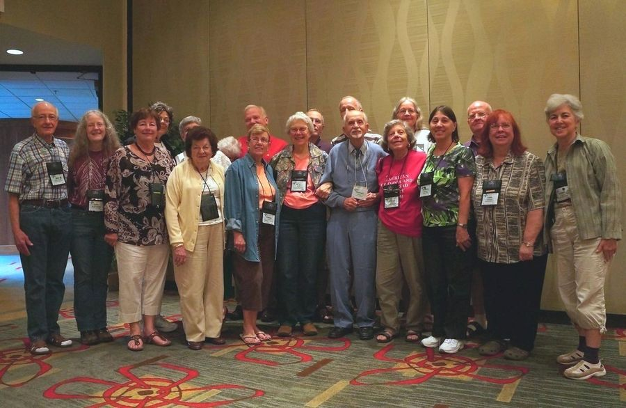 Convention attendees who have received Awards of Appreciation over the years