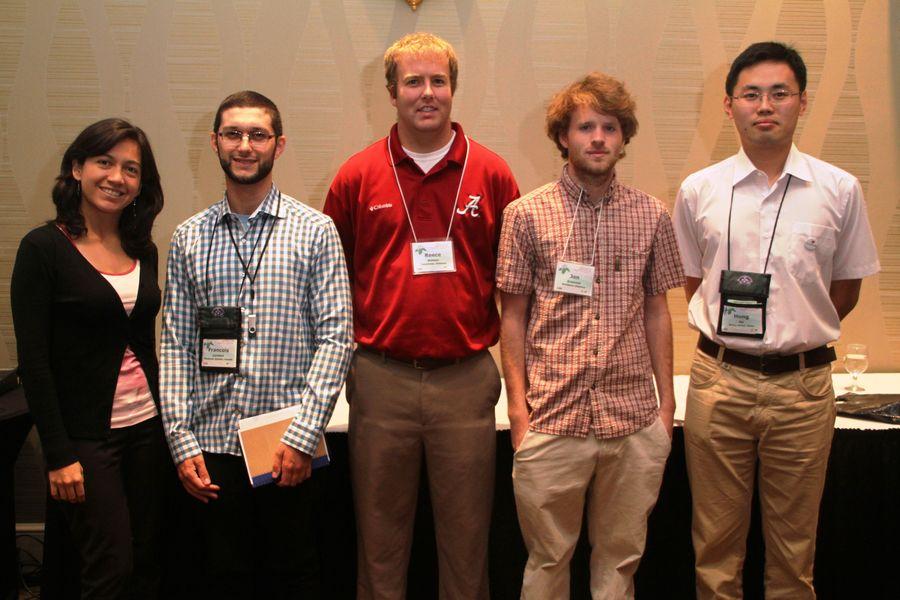 Student Grant recipients: Laura Clavijo, François Lambert, Reece Watson, Jon Grammer, Hong Xin