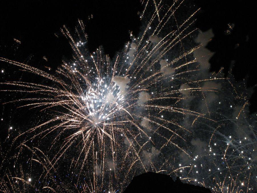 Ending of the fireworks