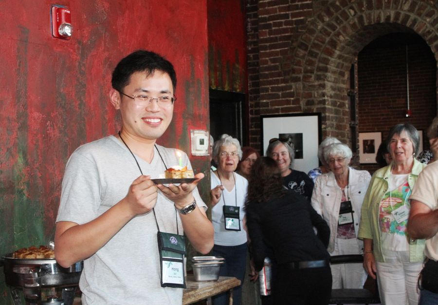 Hong Xin celebrating his birthday at the event