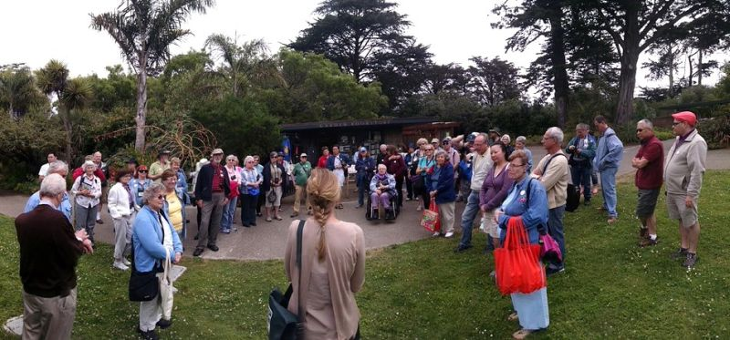 Group gathered back at the entrance for our formal tour