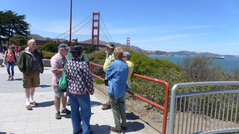 Photo stop at the Golden Gate Bridge