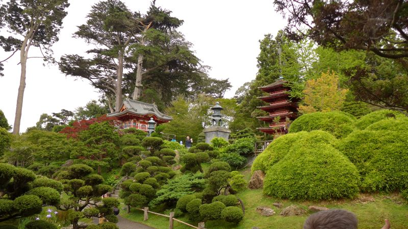 Japanese Garden traditional buildings