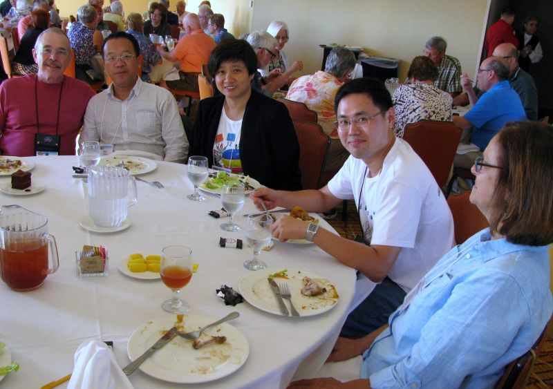 Meeting new gesneriad friends at the opening dinner