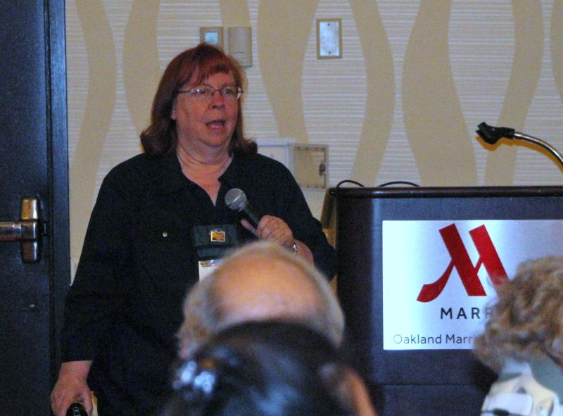 Dale Martens hosting the Gesneriad Hybridizers Association Program