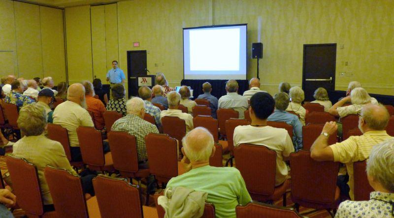 Jason Martin presenting his program on Resia and Cremospermopsis