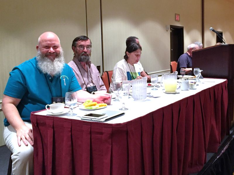 Board members at the head table