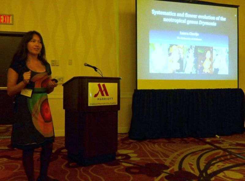 Laura Clavijo presenting her program on the genus Drymonia