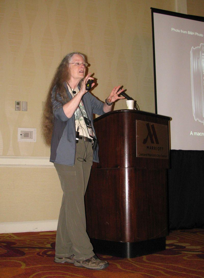 Julie Mavity-Hudson presenting her program on photography