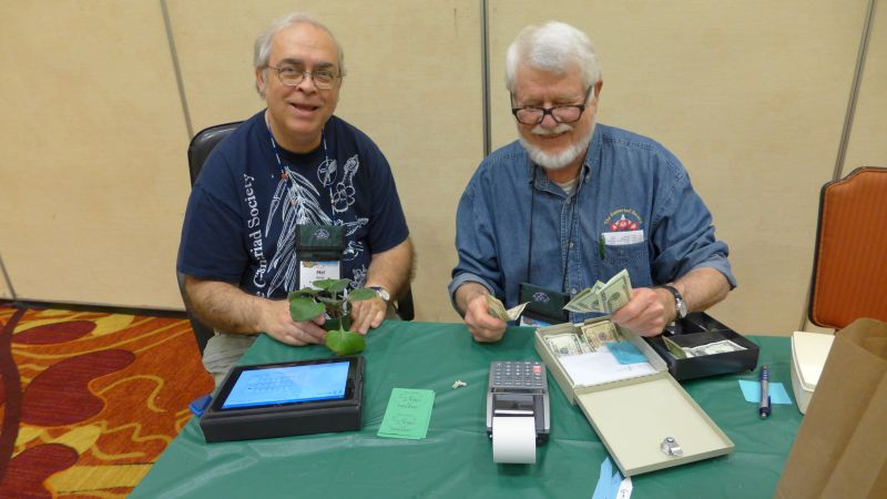 Mel Grice and Mike Horton nearing the closing of plant sales