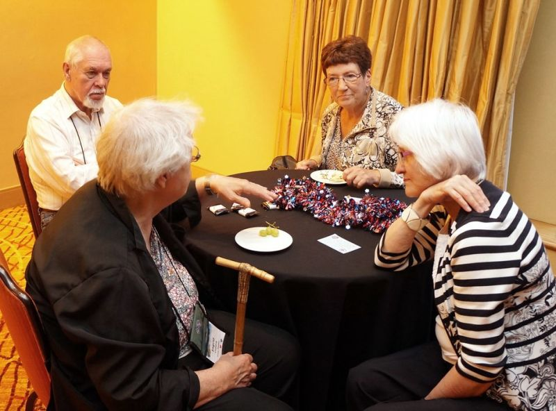 Sven and Ingrid Lindskog, Betty Fenerty, Norma Kunzel