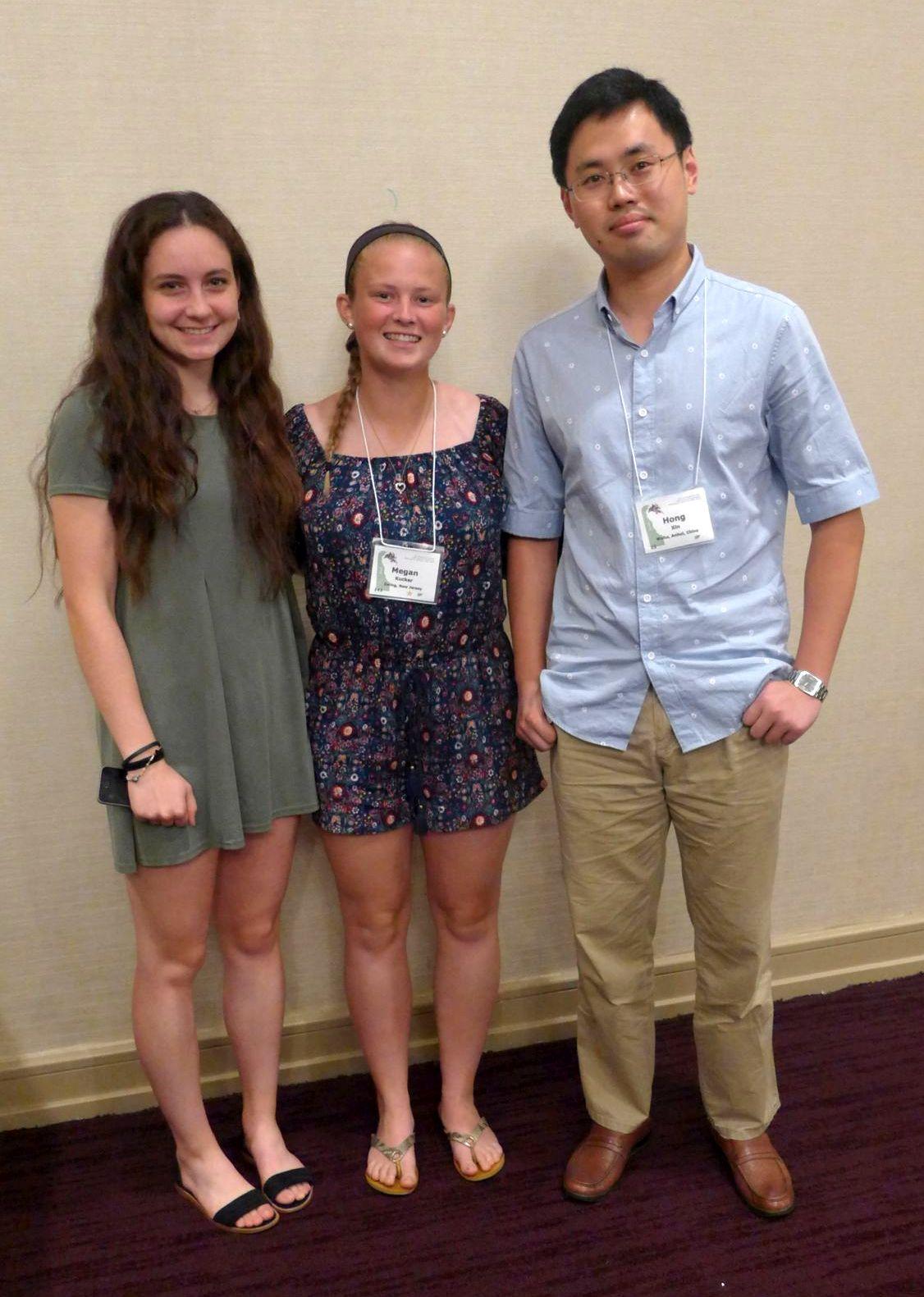 Student Grant Recipients Claire Garcia, Megan Kucker,  Hong Xin