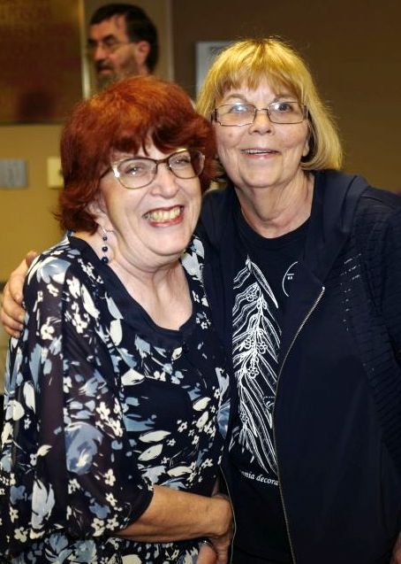 Laura Buckner and Barb Festenstein