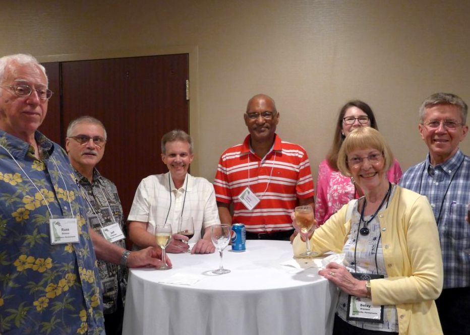 Liberty Bell Chapter members Russ Strover, Jeff Chapman, Tom Finnigan. Levin Tilghman, Judith Smith, Stephen Maciejewski and Betsy Branson