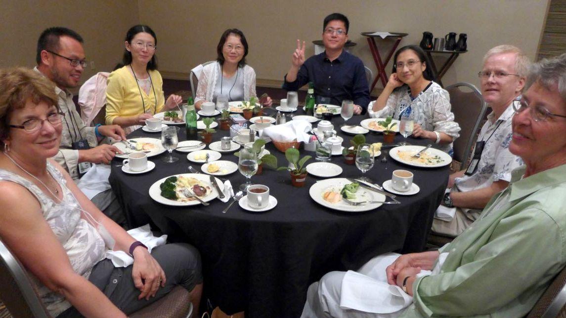 (from left) Maria Walueff, Wen Fang, Dolly Yeh, Lan Jiun Wu, Fan Zhi-Wei, Olive Ma and Ralph Robinson and Bobbie LaFashia