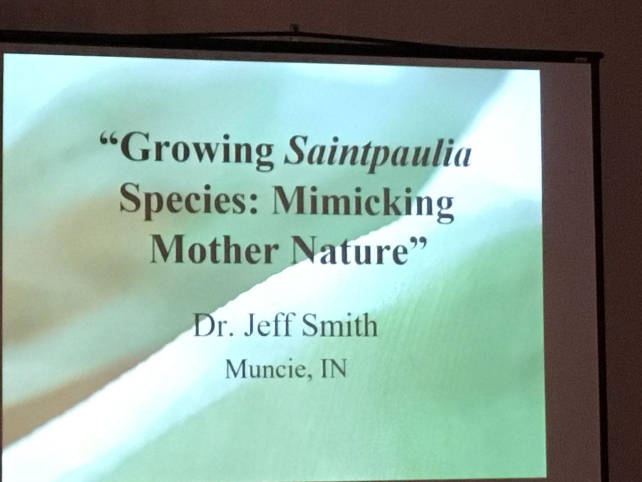 Presentation by Jeff Smith