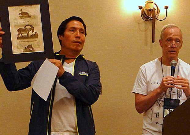Francisco Correa with original Conrad Gesner woodcut
