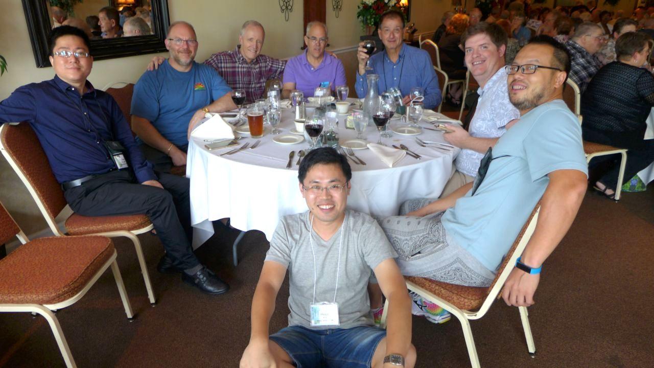 (from left) Fan Zhi-Wei, Winston Goretsky, Bill Price, Dave Zaitlin, Leonard Re, Jeremy Keene, Wen Fang and Hong Xin