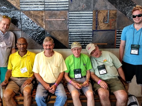 Jim Roberts, Levin Tilghman, Dell Sherk, Ben Paternoster, Mel Grice and Drew Norris back from the zoo trip
