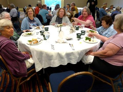 (left to right) Susan Grose, Julie Mavity-Hudson, Mary Schaeffer, Paula Bozoian, Phyllis Savage, Mary Bozoian, Pat Savage