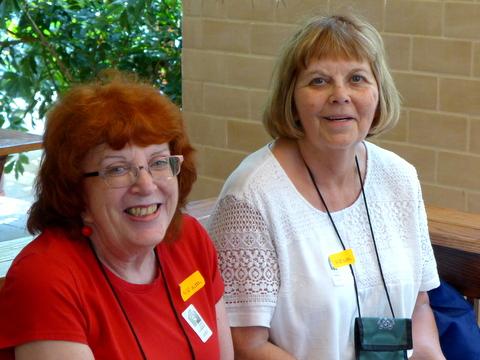 Laura Buckner and Barb Festenstein (Insurance Chairperson)
