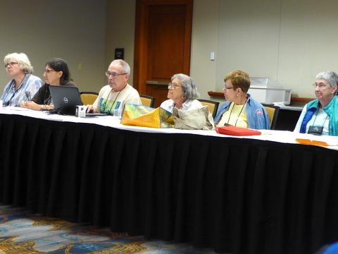 Board members listening intently