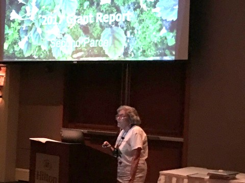The Conservation meeting first presentation by Carolyn Ripps (Seed Fund Co-Chairperson) reporting on the Brazil grant update