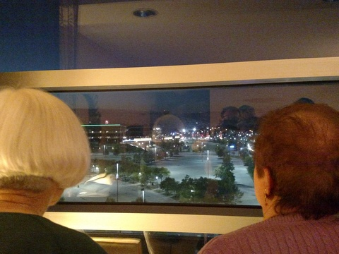 Watching the 4th of July fireworks at the social