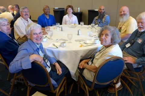 (Clockwise from lower left) MJ Tyler, Sally Robinson, Dell Sherk, Levin Tilghman, Maureen Pratt, Peter Shalit, Bob Clark, Mike Horton, Carolyn Ripps