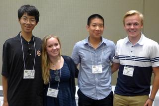 Lawrenceville students Hiroki Nagao, Annika Goldman, Jonny Yeu, Alex Small