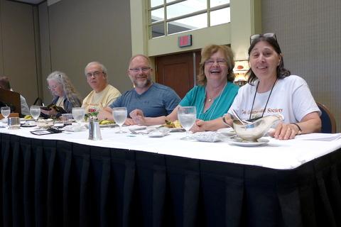 Annual Meeting dais: Julie Mavity-Hudson, Mel Grice, Winston Goretsky, Mary Schaeffer, Jo Anne Martinez