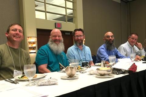 Annual Meeting Dais: Tom Bruning, Bob Clark, Brandon Erikson, Peter Shalit, Leonard Re