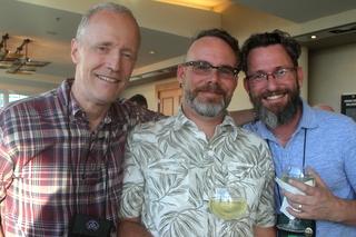 Bill Price, Jeff Jackson, Brandon Erikson at the pre-dinner cocktail hour