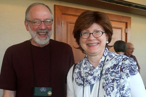 Austin Grevious and first-time attendee Maureen Pratt