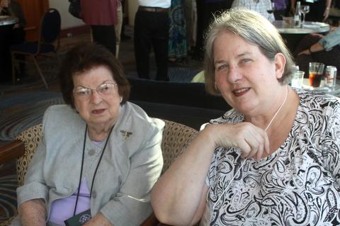 Mary Bozoian and Phyllis Savage