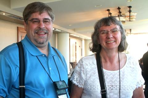 First time attendees Randy Deutsch and Pamela Schwager