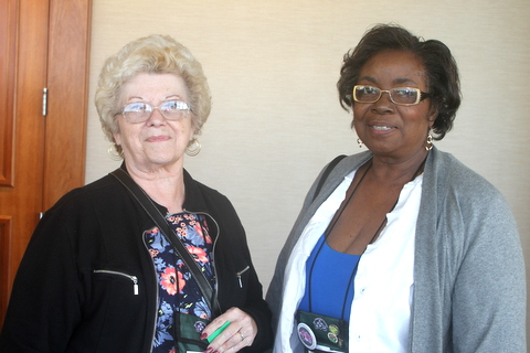 Kathy Spissman (Corresponding Secretary) and Johnnie Berry