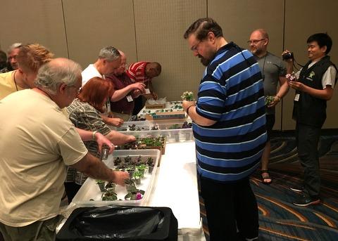 Selecting mini AV door prizes provided by Jeff Jackson