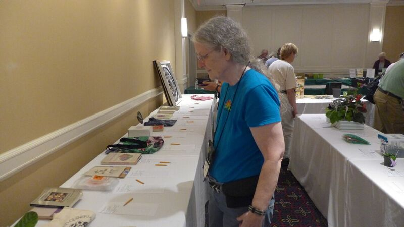 Julie Mavity-Hudson in the silent auction room