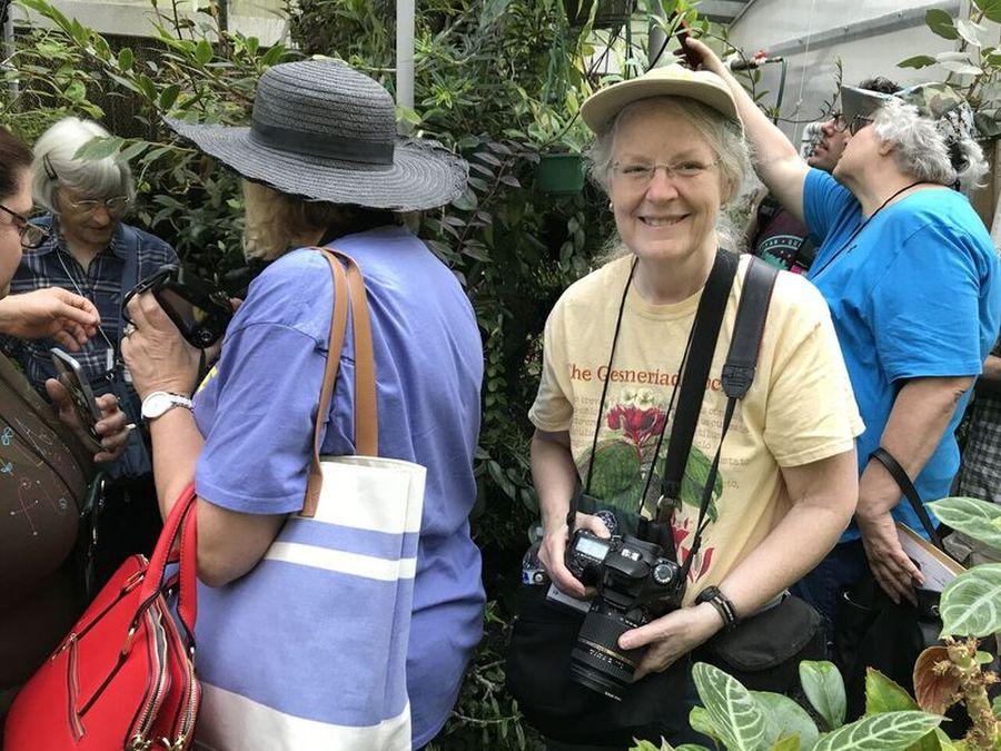 Julie Mavity-Hudson and group enjoying their visit