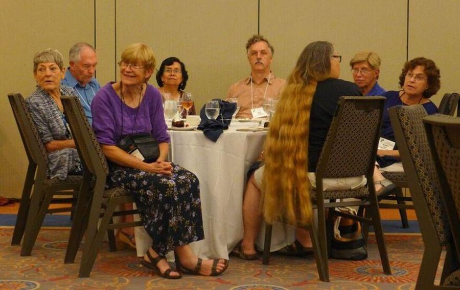 Group enjoying the program