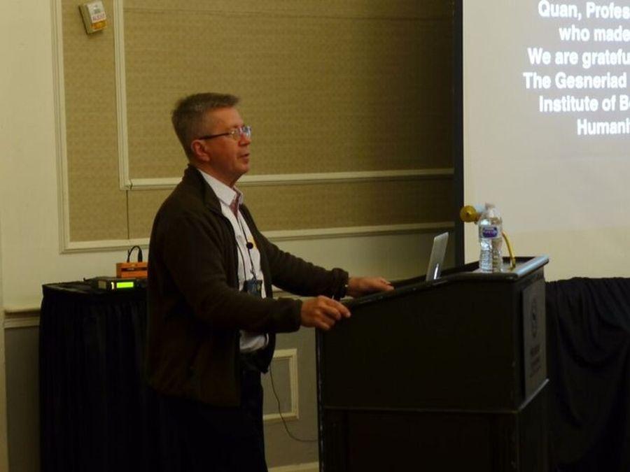Stephen Maciejewski at the Conservation Meeting