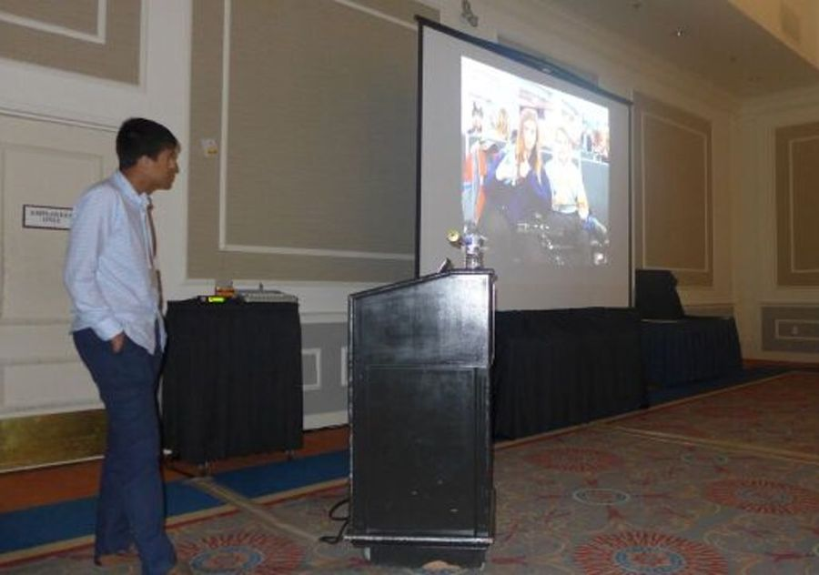 Student Sid Sharma with a videoblog on Lawrenceville in Ecuador program